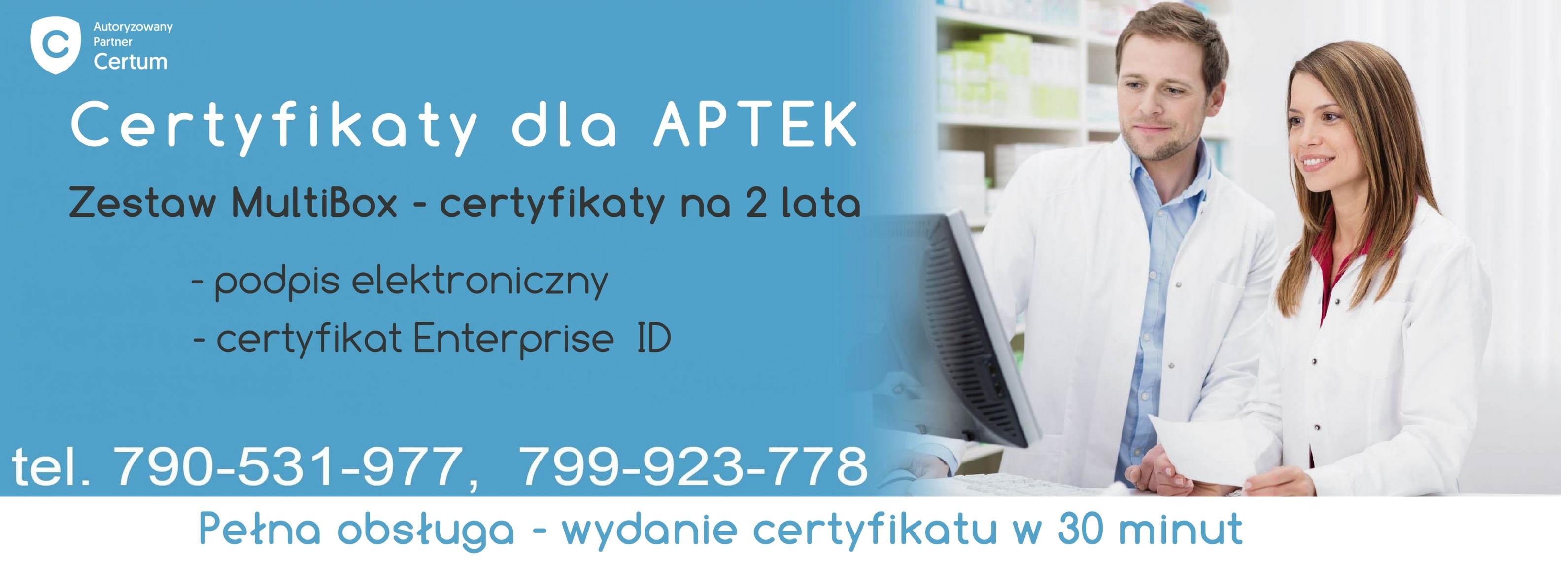 certyfikat dla aptek